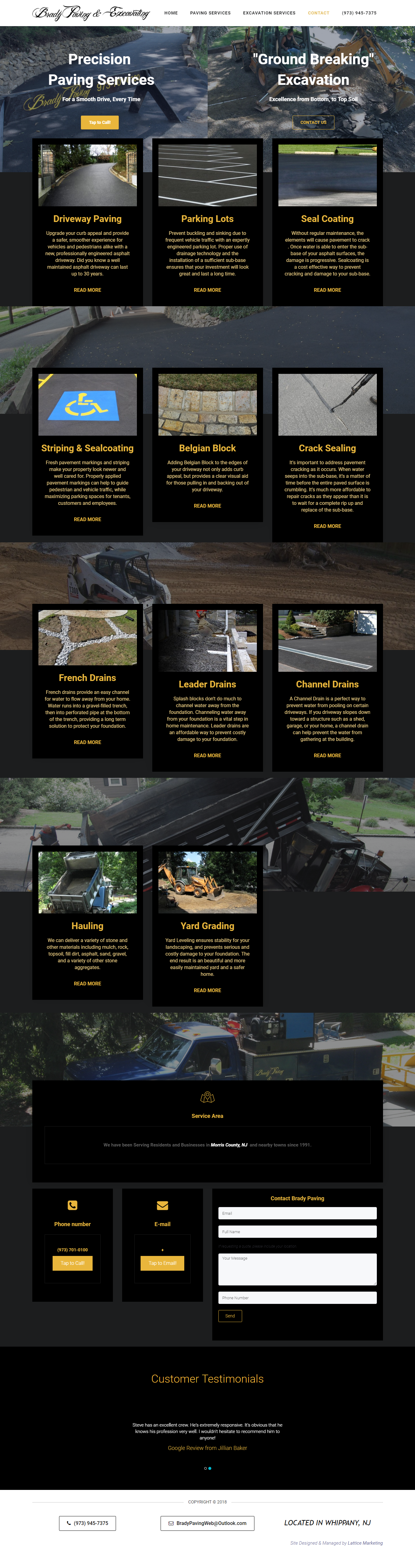 paving website design