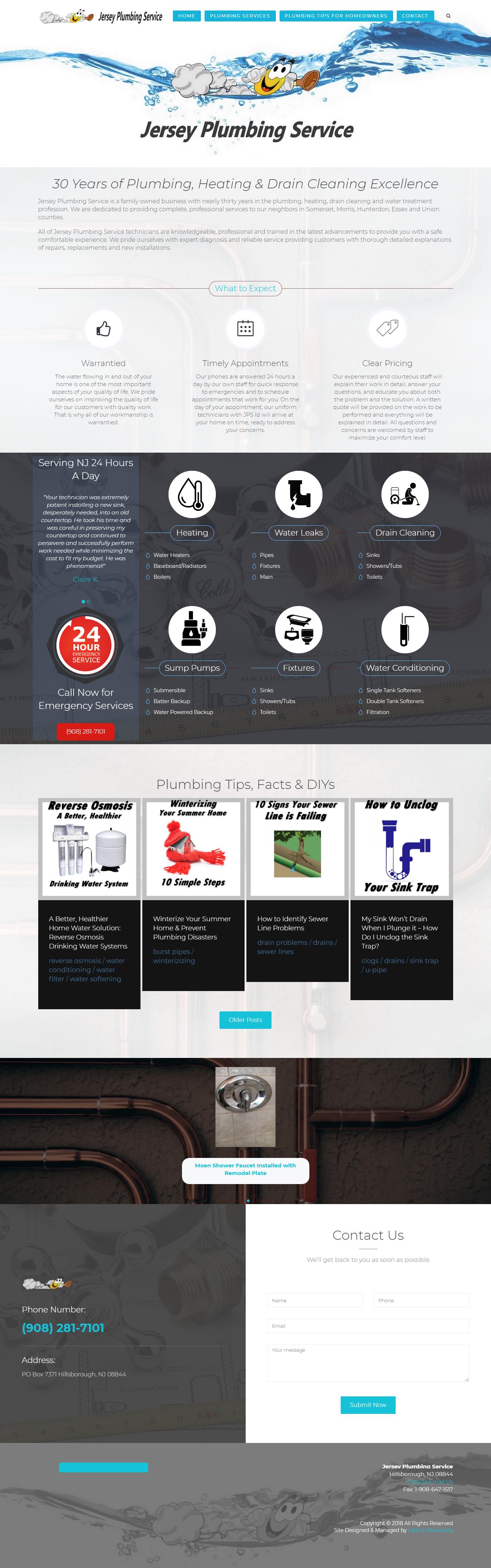 plumbing website design